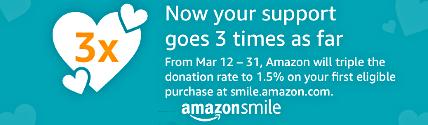 Amazon Smile 3X Promo